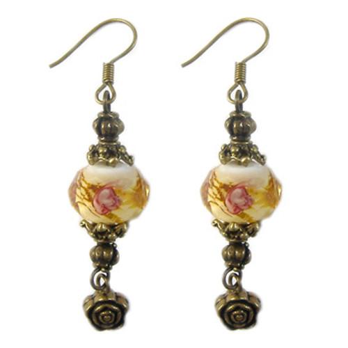 Amber Lampwork Earrings: Project Instructions