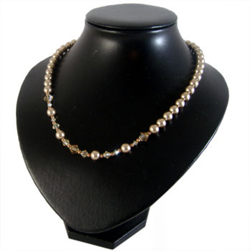 Swarovski Pearl & Crystal Necklace: Project Instructions