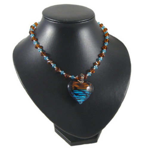 Duo Brown/Blue Simple Necklace: Project Instructions