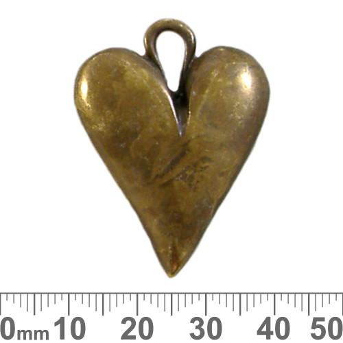 Bronze Abstract Heart Metal Pendant