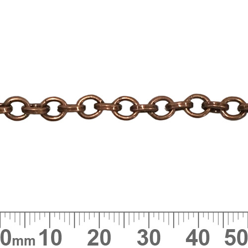 Copper 6mm Round Loop Chain