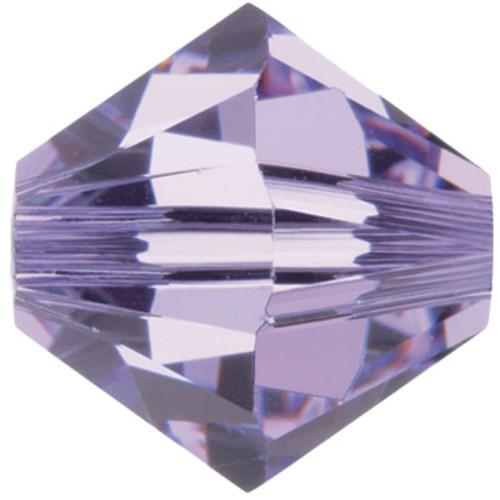 13 x 3mm Violet Swarovski Bicones