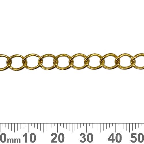 Bright Gold 7.5mm Medium Twisted Loop Chain