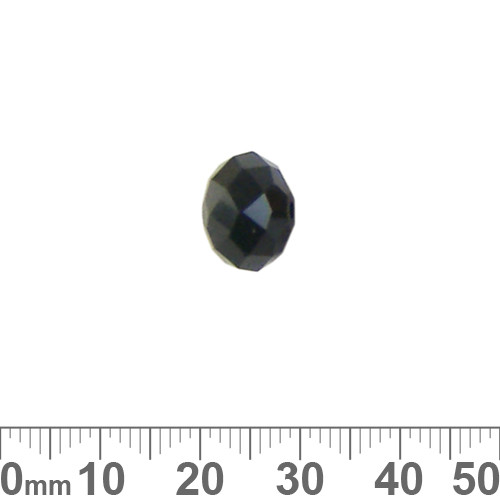 Jet Black 12mm Rondelle Glass Crystal Bead