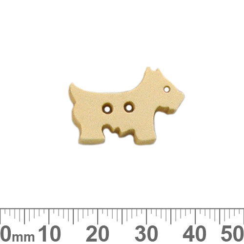 Scotty Dog Honey Wooden Buttons