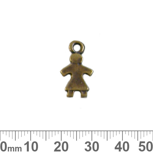 BULK 19mm Flat Girl Metal Charms