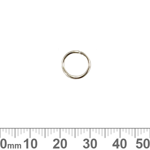10mm x 1.2mm Bright Silver Jump Rings