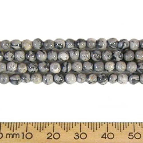 Picasso Jasper 4mm Round Beads
