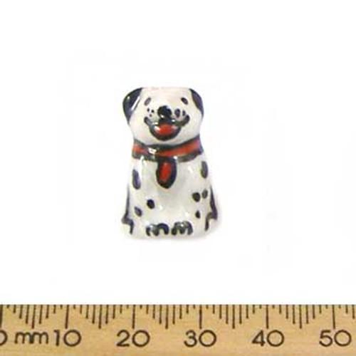 Dalmatian Puppy Ceramic Bead