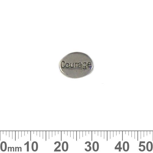 BULK 'Courage' Metal Charm Beads