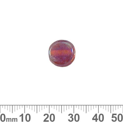 Dark Orange AB Flat Disc Glass Beads