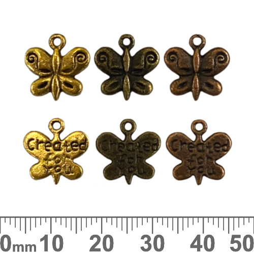 BULK Created For You Butterfly Metal Charms
