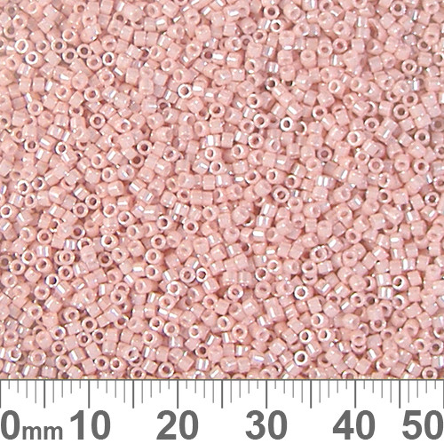 11/0 Opaque Light Salmon Luster Delica Seed Beads