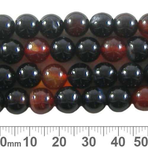 Agate 8mm Round Beads