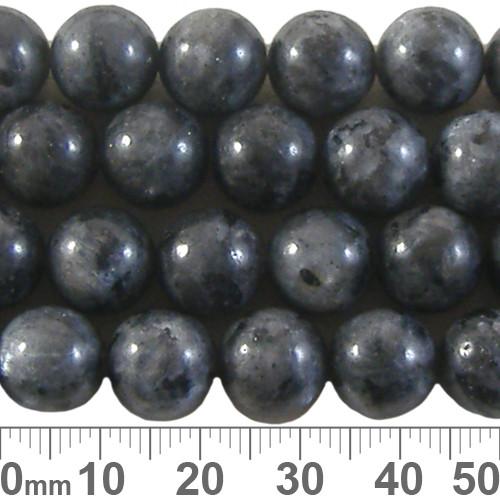 Larvikite 10mm Round Beads