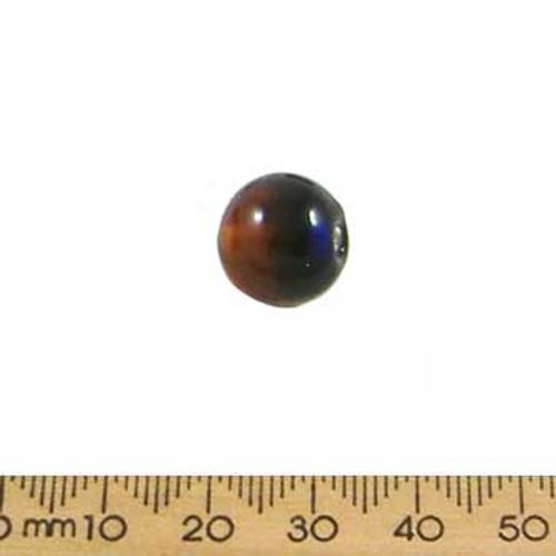 Dark Blue/Brown Round Beads
