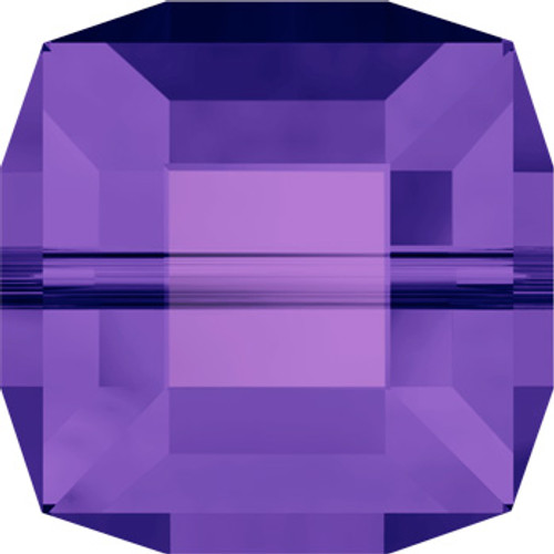 8mm Purple Velvet Swarovski Cube Beads