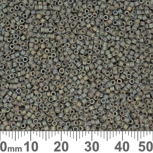 11/0 Matte Opaque Grey Delica Seed Beads