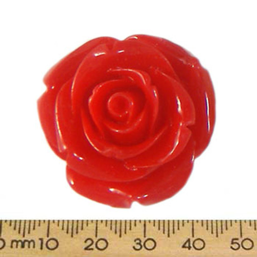 35mm Red Resin Rose