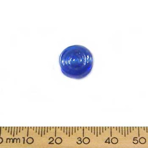 Dark Blue Flat Swirly Disc Beads