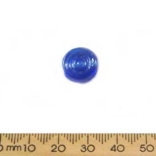 Dark Blue Flat Swirly Disc Beads