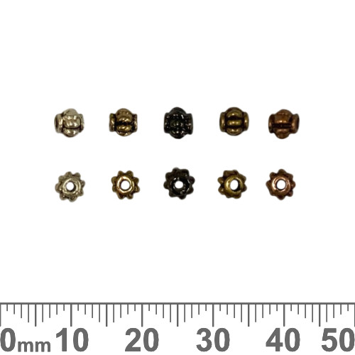 Small Barrel Crown Beads