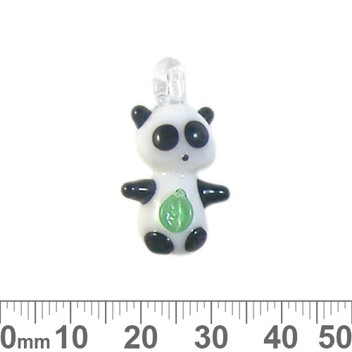 White Panda Glass Charm