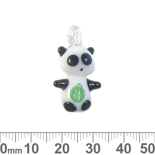 White Panda Glass Charm