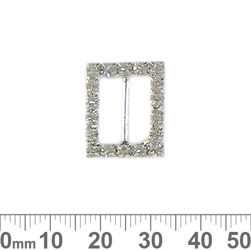 16mm Rectangular Diamante Belt Buckle