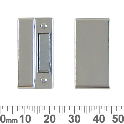 25mm Magnetic Rectangle Glue-In Clasp Set