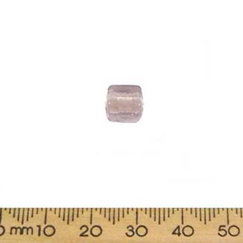 Rose Purple Cube Glass Beads