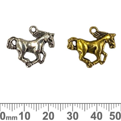 BULK Running Horse Metal Charms