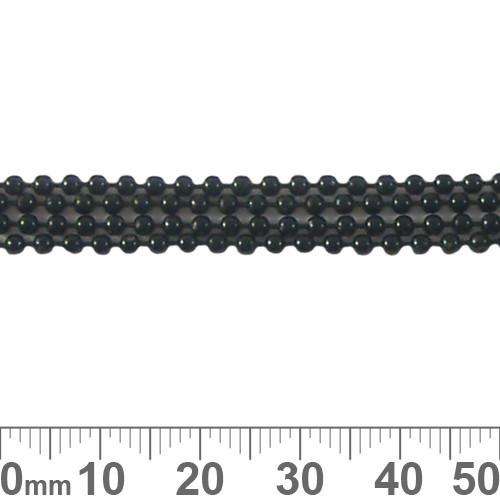Matte Black 2mm Ball Chain