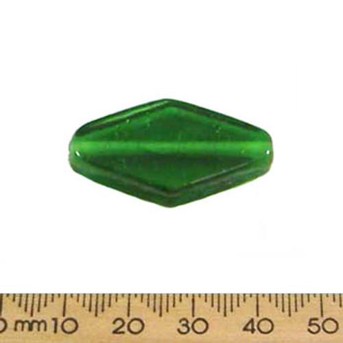 Deep Green 35mm Diamond Glass Beads