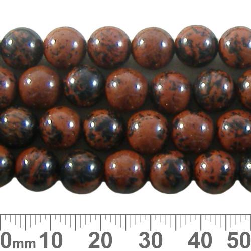 Mahogany Obsidian 8mm Round Beads