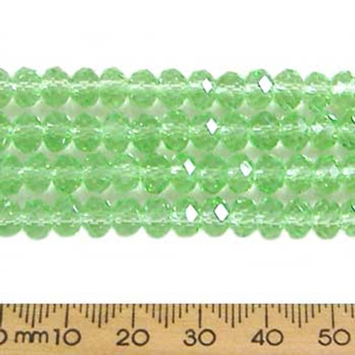 Peppermint Green 6mm Rondelle Glass Crystal Strands