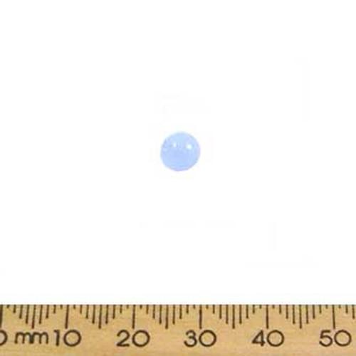Small Light Opaque Blue Round Glass Beads