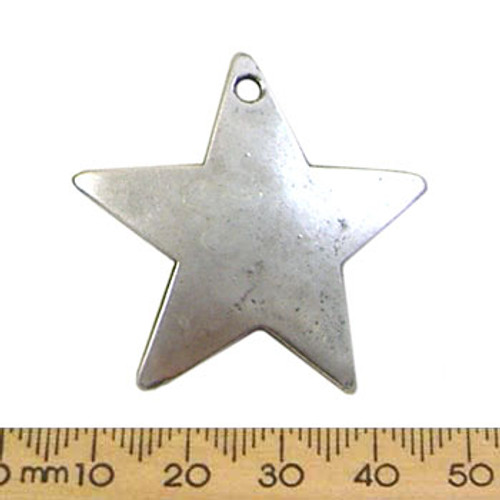 Silver Curved Star Metal Pendant