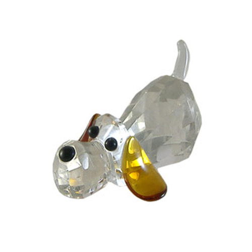 Cut Glass Crystal Dog Ornament