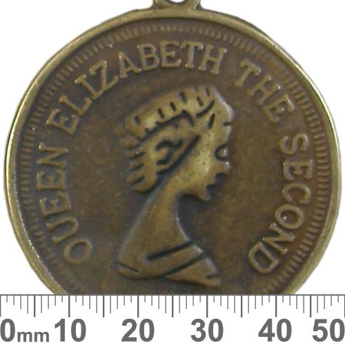 Bronze Queen Elizabeth II Coin Metal Pendant