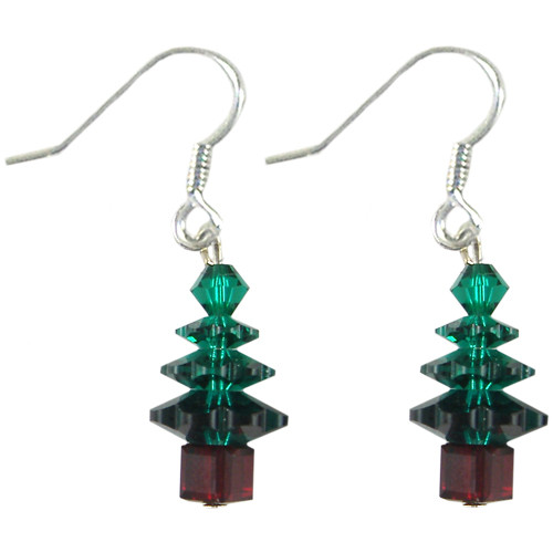 Swarovski Emerald Christmas Tree Crystal Earrings Kit