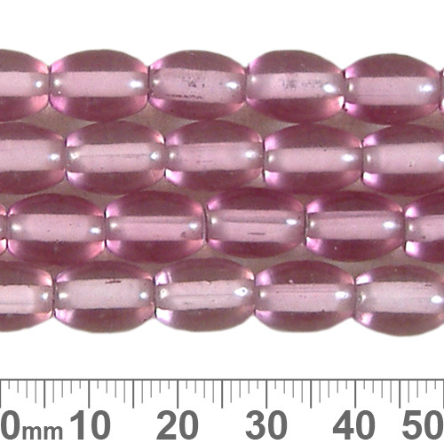11mm Rose Oval White Heart Bead Strands