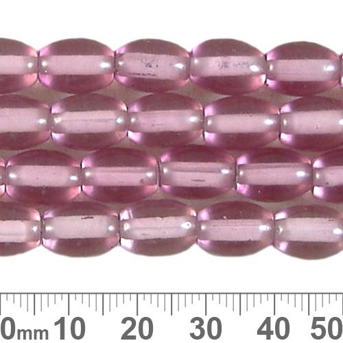 11mm Rose Oval White Heart Bead Strands