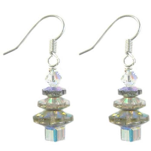 Christmas Tree A-Grade Crystal Earrings Kit - Clear AB