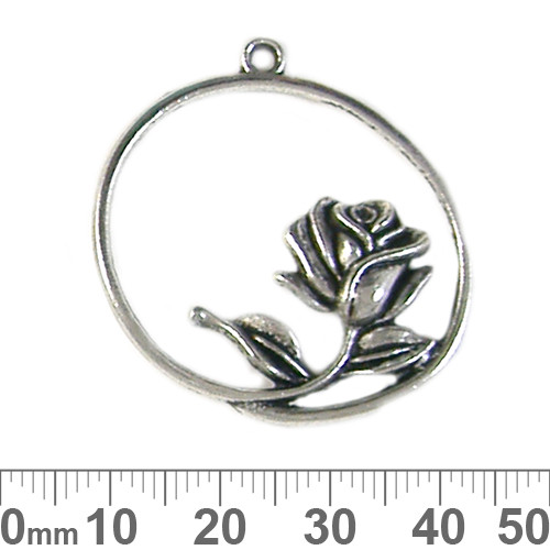 Rose Ring Metal Pendant