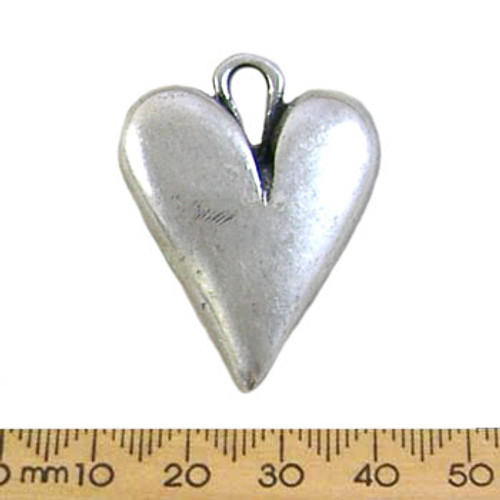 Silver Abstract Heart Metal Pendant