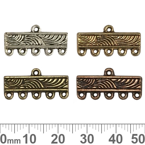 BULK 5 Strand Filigree Bar Ends