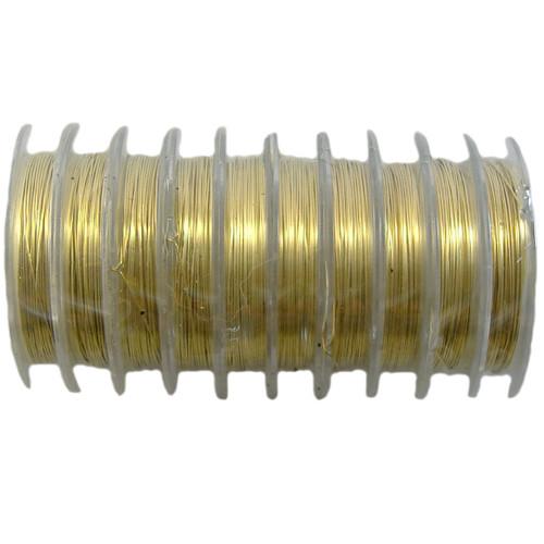 26 gauge BULK Beading Wire - 100m (Gold)