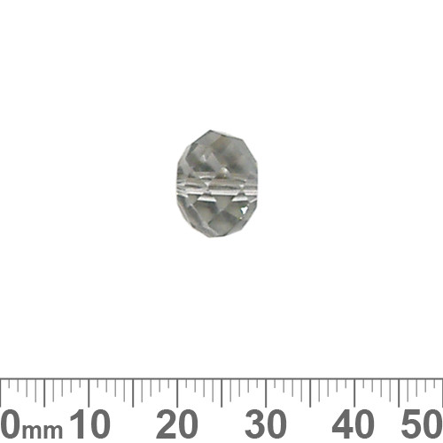 Grey 12mm Rondelle Glass Crystal Bead