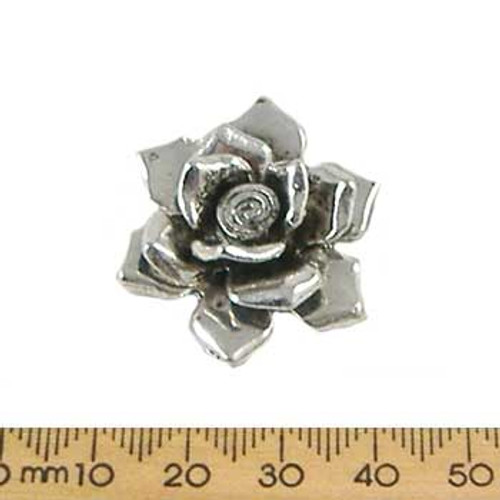 Base Metal Hill Tribe Style Rose Pendant